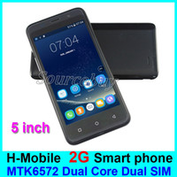 Wholesale Cheapest Android Mobile Phones - S13 Cheapest 5 inch Android4.4 Smart phone Dual Core MTK6572 Dual SIM Cameras Wifi 2G Unlocked 256MB H-Mobile Mobile Phones Free shipping