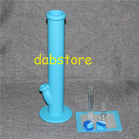 Wholesale Bong Pads - 1 set Silicone Wax container with square sheets pads mat silicone bong silicon water pipe dabber tool for dry herb jars dab