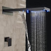 Wholesale Bronze Wall Faucet - Oil Rubbed Bronze Shower Faucet Rainfall Shower Head With Single Handle 2 Ways Mixer Tap