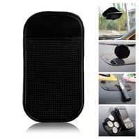 telefone celular de magia negra venda por atacado-5 pcs Preto Universal Car Magic Sticky Pad Anti Slip Mat Não-deslizamento Pegajoso Painel Do Carro para Telefone Celular GPS titulares