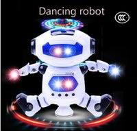 space marketing - The new space dance electric robot night market lighting flash degree stunt rotation dynamic music light intelligent robot