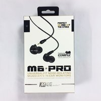 Wholesale Ears Monitors - Hot MEE audio M6 PRO Universal-Fit Noise-Isolating Earbuds Musician In-Ear Monitors headsets Wired Earphones With Retail Packaging