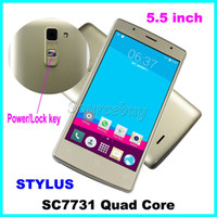 Wholesale M Phones Dual Sim - M-HORSE STYLUS 5.5 inch Smartphone SC7731 Quad Core Android 5.1 Dual SIM 3G Unlocked 512MB 8GB Mobile Cell phones Free Case