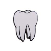 Wholesale teeth brooches - 1PC Human Body New Organs Piercing Brooch Lapel Pin Collar Zinc Alloy Enamel Eye Teeth Brain Heart Brooches Pins For Womens
