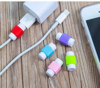 capa de iphone de cabo usb venda por atacado-Para a apple ipod iphone cabo usb e fone de ouvido de plástico protetor de fone de ouvido de silicone proteger case cabo cabos mix cor