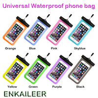 Wholesale iphone covers free shipping - Camouflage Waterproof case Universal Water Proof Bag armband pouch Cover For all iphone 7 Cell Phone bag DHL fast free shipping