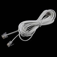 Wholesale Wholesale Adsl Modems - Wholesale- 1PCS High Speed 10FT 3M RJ11 6P4C Telephone Phone ADSL Modem Line Cord Cable 4 Pin #22514