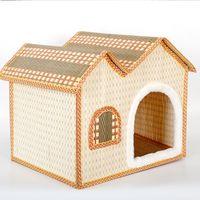 Wholesale Wholesale Dog Soft Houses - Pets Articles House Villa Pet Dog Nest Puppy Cat dog Soft Bed Cute Dog Beds Kennel Nest Fleece Cat Tent