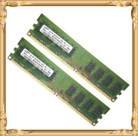 Wholesale 2gb Ddr2 Desktop Memory - Desktop memory Samsung 4GB 2x2GB 800MHz PC2-6400U DDR2 PC RAM 800 6400 4G 240-pin Free shipping