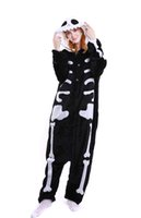 Wholesale Cosplay Womens Costume - Skeleton Pajamas Onesie For Men Dinosaur Footed Pyjamas Pink Green Adult Womens Long Sleeves Cosplay Costumes Chrismas Holloween Sleepwear
