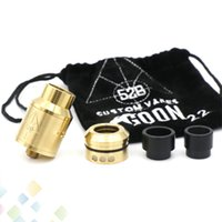 Wholesale Pc Cloning - GOON RDA 22MM Clone Rebuildable Dripping Atomizers With 2 pcs Drip Tips And Metal CHUFF 528 LOGO ON fit 510 Mods DHL Free