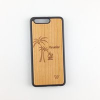 Wholesale Hot Sell I Phone - Hot selling U&I Superior Bamboo and Natural Cherry Wood Phone Case for Huawei p10 p10 plus Flexible TPU Bumper PC Back Phone Case