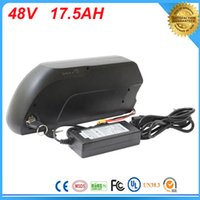 Wholesale Usb Bike Charger - Electric Bike Battery 48v 17.5ah li ion battery with Sanyo GA 18650 cells for Bafang 8fun 48v 750w 1000w ebike moto with charger +5v USB