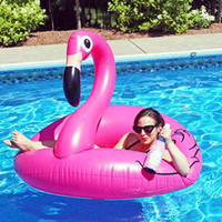 Flamingo Floating Bed Piscina flotante Raft Colchón de aire Verano 120cm PVC Adultos Pool Float Toy Floating Row