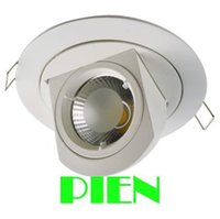 Wholesale Aluminum Gimbal - Wholesale- 10W COB Gimbal adjustable led downlight rotating ceiling lampada recessed lumiere focos 85V-265V CE&ROHS by DHL 30pcs