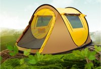 Wholesale Auto Fiberglass - Bread Tree Tent Outdoor 3-4 People Auto Field Camping Double Rain 2 Seconds Speed Open Tent Set