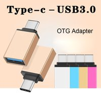 Wholesale Otg Cable Dhl - Metal USB 3.1 Type C OTG Adapter Male to USB 3.0 A Female Converter Adapter OTG Function for Macbook Google DHL CAB169