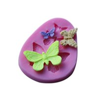 Wholesale Molds For Chocolates - Wholesale- Butterfly Shape fondant cake molds Fondant decoration soap chocolate mould for the kitchen baking cake tool