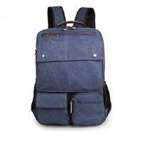 Wholesale Cheap Rucksacks - 2017 New Cheap Durable Canvas Unisex Travel Backpacks Rucksack Shoulder Bag Computer Bag 9027