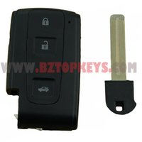 Wholesale Toyota Crown Smart Key - Smart car Key Shell with TOY48 Key blade for Toyota Avensis CROWN Verso Prius 3button Keyless entry remote key Case Cover