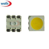 Wholesale Plcc Led - Wholesale- 1000 pcs Warm White PLCC-6 9~12 LM 2700~2850K 5050 SMD 3-CHIPS LED Bulb Strip Light