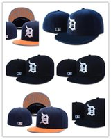 Wholesale New Arrival MLB Detroit Tigers Baseball Cap Front Logo Alternate Fitted Hat wicks away sweat Adult Sport With Box