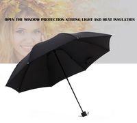 Wholesale Sunny Fashion - Fashion classic black seventy percent off umbrella, Unisex umbrella, movable umbrella