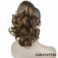 """Wholesale 125g Hair Extensions - 12"""" Curly Synthetic Clip In Claw Ponytail Hair Extension Synthetic Hairpiece 125g with a jaw claw clip 11Colors"""