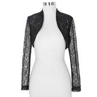 Wholesale Collar Lace Bolero Jackets - Wholesale- Belle Poque long sleeve jacket new fashion Slim white Black Outwear Women short Lace Coat Cropped Shrug Bolero 2016 Plus size