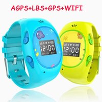 Wholesale Apple Wifi - kids smartwatches anti-lost smart watches kids wearable tracker wrist phone with GPS Tracker WIFI location, for Apple and Android phone APP