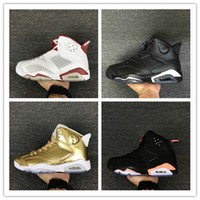 Wholesale Infrared Hunting - Drop shipping air retro 6 mens basketball shoes top quality hare sneaker Infrared Oreo black cat sneaker Pinnacle Metallic Gold Running Shoe
