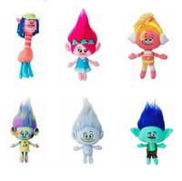 Wholesale Dolls Coats - Hot!!! Trolls Dolls 23-30cm Movies Plush Dolls for Wholesale Kids Poppy Branch Trolls Stuffed Toy Doll For Baby Birthday Gifts Free Shipping