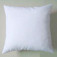 Wholesale Plain White Pillows - plain white DIY Blank Sublimation pillow case poly pillow cover 150gsm fabric 40cm 50cm square white pillow case for DIY print paint