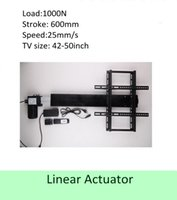 Wholesale Tv Lifts - free shipping 600mm stroke 42''-50''TV usage wireless tv lift linear actuator can used for cabinet and bed