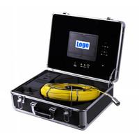 cámaras de video alcantarillado al por mayor-50M Cable DVR endoscopio industrial sistema de video subacuático sistema de inspección de la pared de la tubería Cámara de alcantarillado DVR cámara de tubo impermeable HD 700TVL