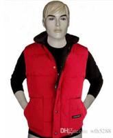 Wholesale Men S Casual Cotton Vests - Free shipping Brand winter jacket men 4 color Mens FreeStyle Vest Goose Vest Down Vest Down jacket