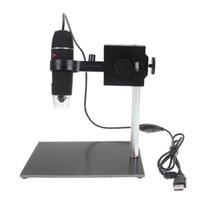 Freeshipping USB Microscope numérique de réparation de loupe 8LED 500X USB Digital Microscope Holder Grossissement Soldering Stand Lampe