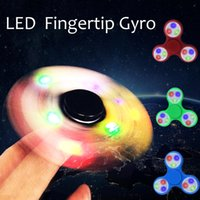 Wholesale Wholesale C7 Light Bulbs - LED Light Styles Hand Finger Spinner Fidget Plastic EDC Hand Spinner For Autism and ADHD Relief Focus Anxiety Stress Gift Toys