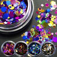 Wholesale Sparkly Nail Tips - ail art glitter 35pcs 1 2mm 3mm Mixed Mini Round Thin Paillette Design Nail Art Glitter Decoration Nails Tips Sparkly DIY Accessories LAP...