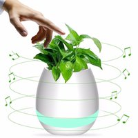Universal outdoor house plants - Plant Flower Pot Innovative Gift House Decor Bluetooth Music ABS Plastic Planter
