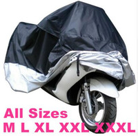 Wholesale Motorcycles Rain - All size Black Silver Color Motorcycle Cover Waterproof Outdoor UV Dust Protector Rain Dustproof Cover for Motorcycle Scooter