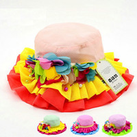 Wholesale Princess Protection - girls fedoras Girl Wide Brim Hats princess hat spring summer beach breathable baby hat travel shade children hat