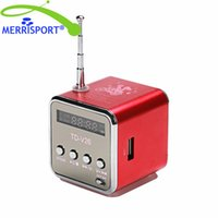 Portable Microsd TF USB Fm Musik Mp3 Player Mini Digital Lautsprecher für PC iphone Samsung Galaxy HTC Smartphones Tablet Laptop Rot MERRISPORT