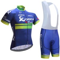 Wholesale Orica Cycling Set - 2017 Orica summer Cycling Jersey bib shorts set MTB Bicycle Breathable sportwear clothes maillot ciclismo Bike Clothing E0307