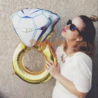 balão de noiva venda por atacado-Amante Casamento Casamento Balão, Diamante Balão Noiva Anel de Noivado Folha de Dia Dos Namorados Balões de Festa Brinquedos