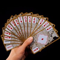 Wholesale Play Dragon Games - Waterproof Transparent Pvc Poker Gold Edge Playing Cards Dragon Card Novelty High Quality Collection Board Game Gift Durable