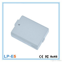 Wholesale Mini Camera Rechargeable - LP-E5 Rechargeable Lithium Mini Durable Camera Battery Pack For Original Canon EOS 1100D 1200D Kiss X50 X70 Rebel T3 T5 LPE10 Support Lots