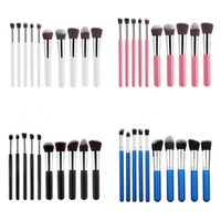 Wholesale Synthetic Hair Wholesale Prices - Free shipping 10pcs set professional best price soft cosmetics makeup brushes 8 colors for wholesale with opp bag