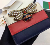 Wholesale Bee Coin - HOT SELLING! 2017 New designer Fashion bee Wallets High Quality Leather ladies mini Wallet Famous Brand Women purse