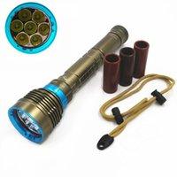 Wholesale Diving Flashlight 7x - 70W 3-Mode 14000 Lumen XML 7x L2 LED Diving Flashlight Torch 200M Underwater Waterproof LED Flash Light Lantern